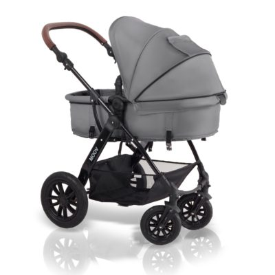 kinderkraft moov 3 in 1 travel system grey carrycot