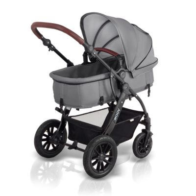 kinderkraft moov 3 in 1 travel system pram grey