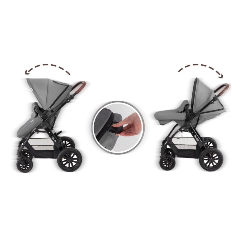 kinderkraft moov travel system grey 2018