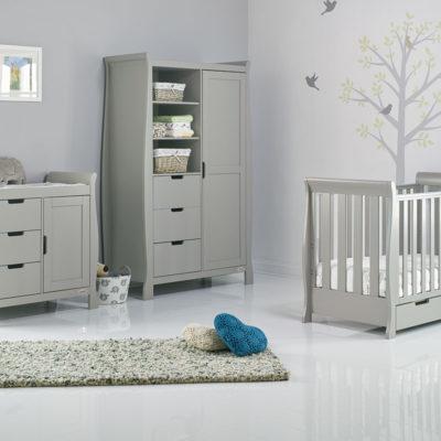 obaby stamford classic mini 3 piece nursery room set warm grey