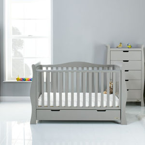 obaby stamford luxe 4 piece nursery room set warm grey