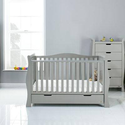 obaby stamford luxe 4 piece nursery room set warm grey