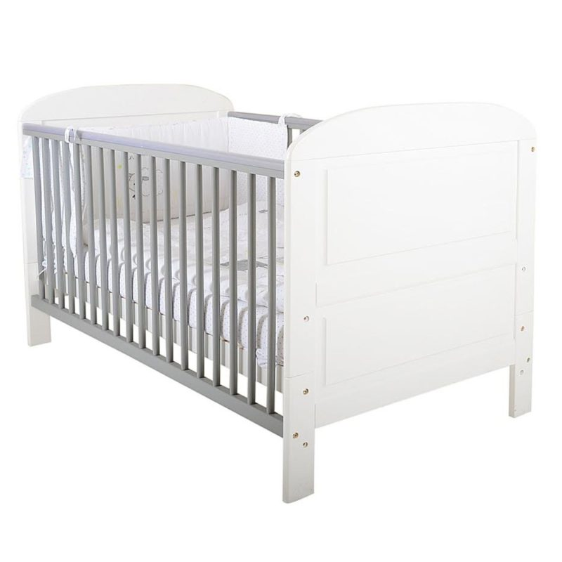 East Coast Angelina Cot Bed - White/Grey