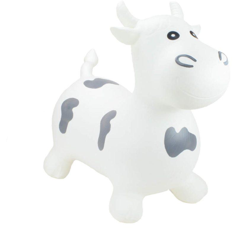 Happy Hopper Big Face White Bull