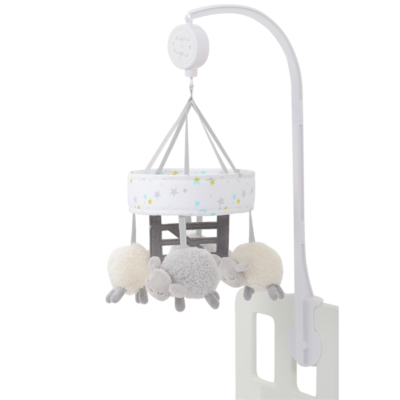 Silver Cloud Counting Sheep Cot Mobile