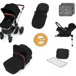 stomp v3 black on silver with isofix