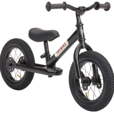 Trybike Steel Balance Bike All Black