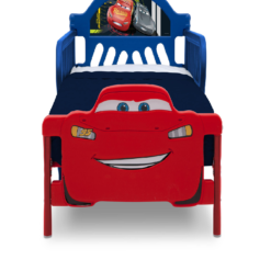 cars wooden bed