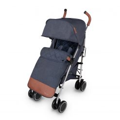 ickle bubba discovery max stroller blue on silver frame