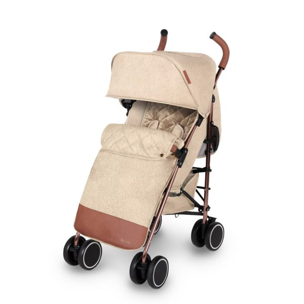 ickle bubba discovery max stroller cream on rose gold