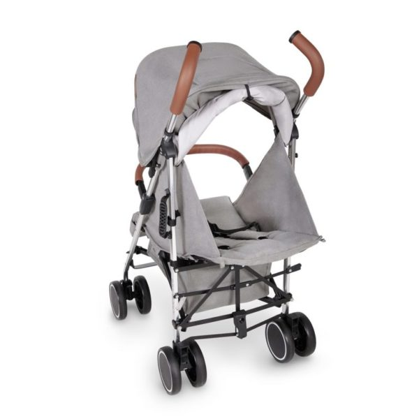 ickle bubba discovery stroller grey on silver rear shot