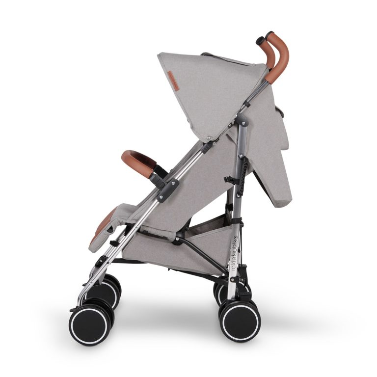 ickle bubba discovery stroller grey on silver side on 2