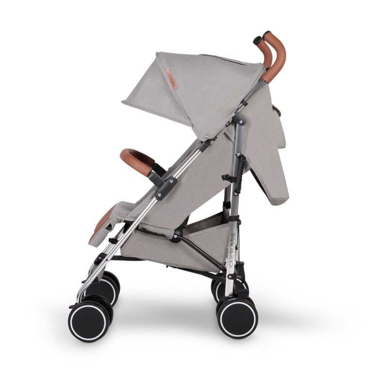 ickle bubba discovery stroller grey on silver side on