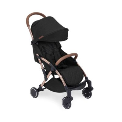 ickle bubba globe max black on rose gold stroller no footmuff