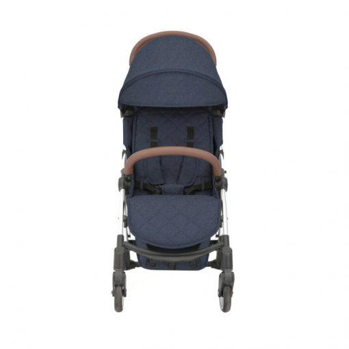 ickle bubba globe max stroller blue on silver front on 2