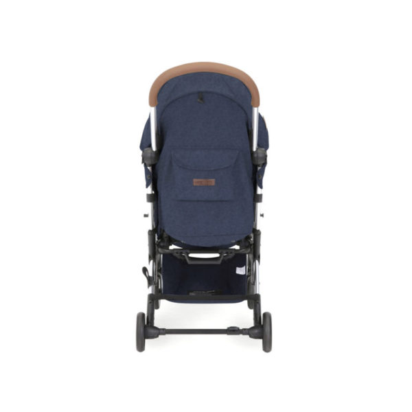 ickle bubba globe max stroller blue on silver rear view