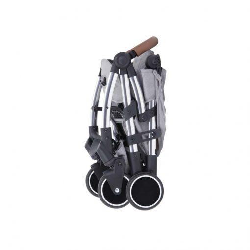 ickle bubba globe max stroller grey on silver folded
