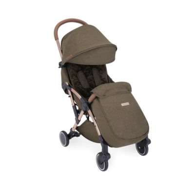 ickle bubba globe max stroller khaki on rose gold
