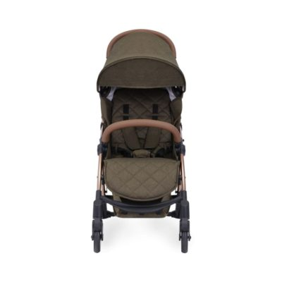 ickle bubba globe max stroller khaki on rose gold front on 2