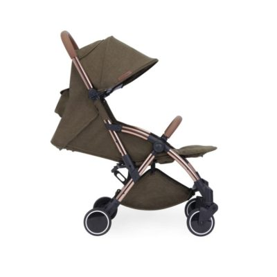 ickle bubba globe max stroller khaki on rose gold side on 2