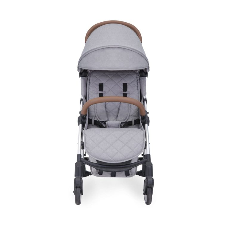 ickle bubba globe stroller silver on grey front on