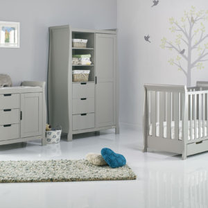 obaby stamford mini sleigh cotbed nursery room set builder