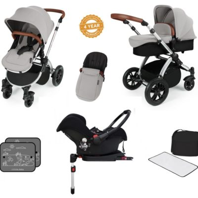 stomp v3 silver silver with isofix