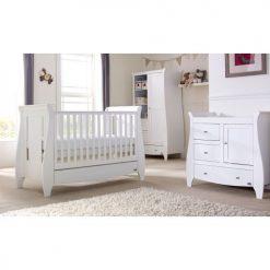 tutti bambini lucas 3 piece nursery room set lifestyle in white