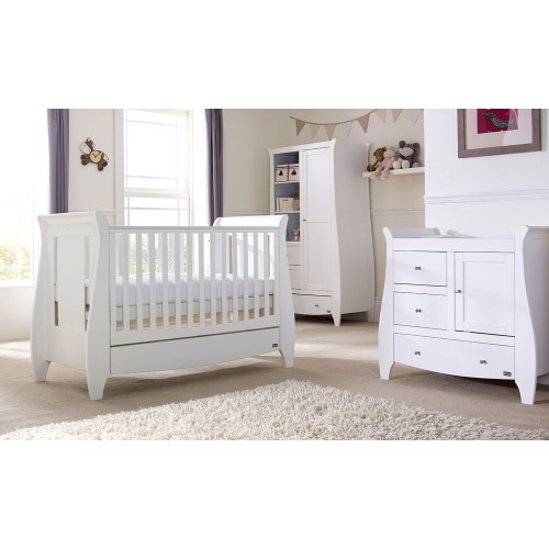 tutti bambini lucas 3 piece nursery room set lifestyle in white