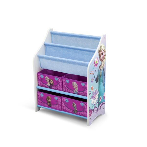 Delta Children Disney Frozen Book Case and Toy Organizer2