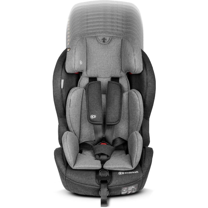 Kinderkraft Safety Fix ISOFIX Group 1,2,3 Car Seat - BlackGrey 11