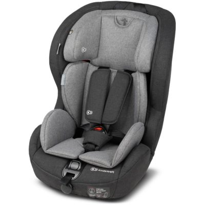 Kinderkraft Safety Fix ISOFIX Group 1,2,3 Car Seat - BlackGrey 2