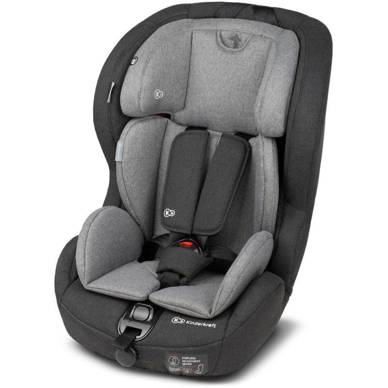 Kinderkraft Safety Fix ISOFIX Group 1,2,3 Car Seat - BlackGrey 2