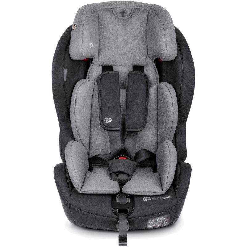 Kinderkraft Safety Fix ISOFIX Group 1,2,3 Car Seat - BlackGrey 6