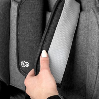 Kinderkraft Safety Fix ISOFIX Group 1,2,3 Car Seat - BlackGrey 9