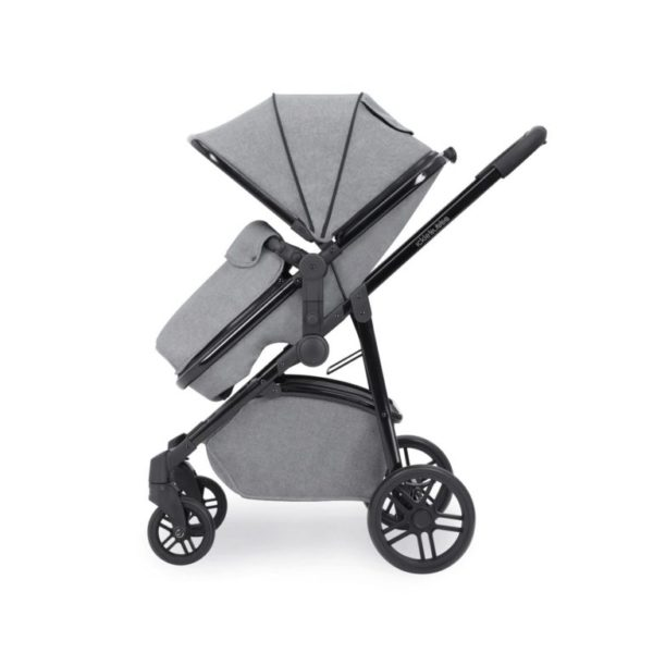 ickle bubb moon stroller 3 in 1 travel system space grey side on