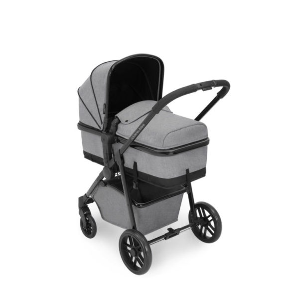 ickle bubba moon 3 in 1 travel system pram with isofix space grey