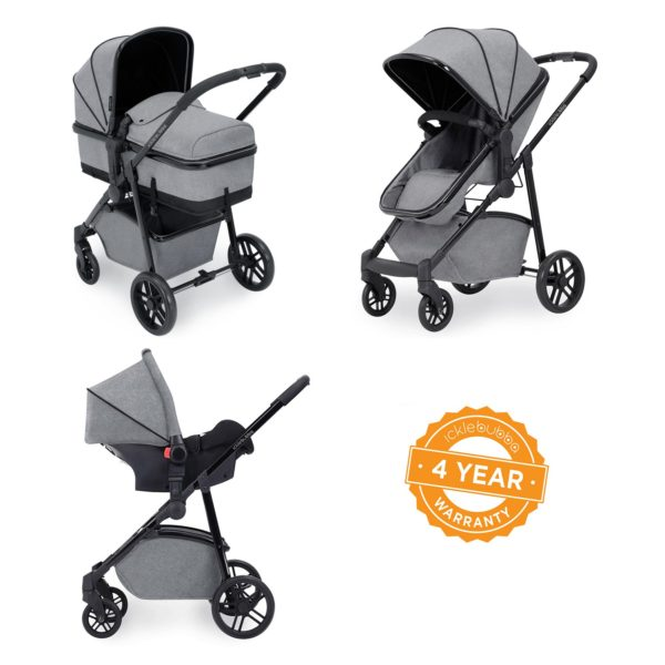 ickle bubba moon 3 in 1 travel system space grey