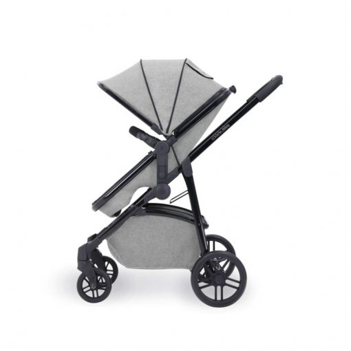 ickle bubba moon pushchair silver grey side on