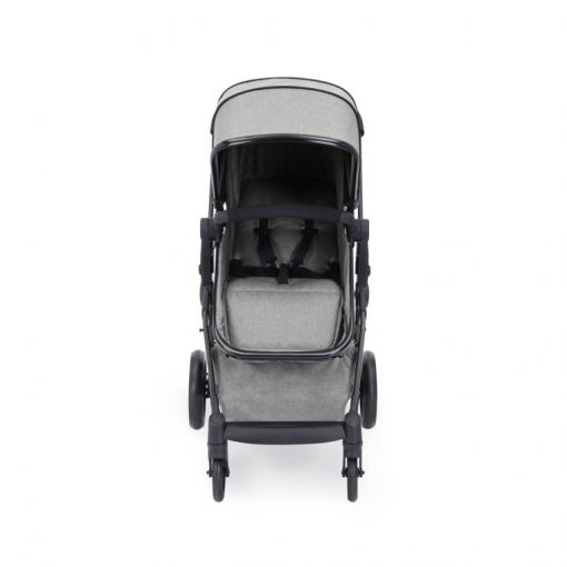 ickle bubba moon stroller front on silver grey