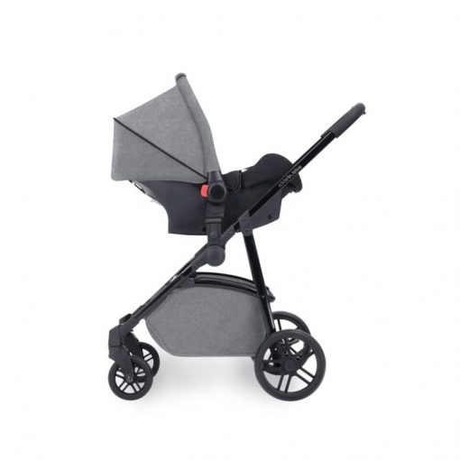 ickle bubba moon travel system 3 in 1 with isofix base car seat on frame space grey