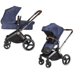 mee-go venice child kangaroo pram and stroller denim blue