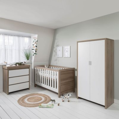 Tutti Bambini Modena 4 Piece Nursery Room Set - Oak/White
