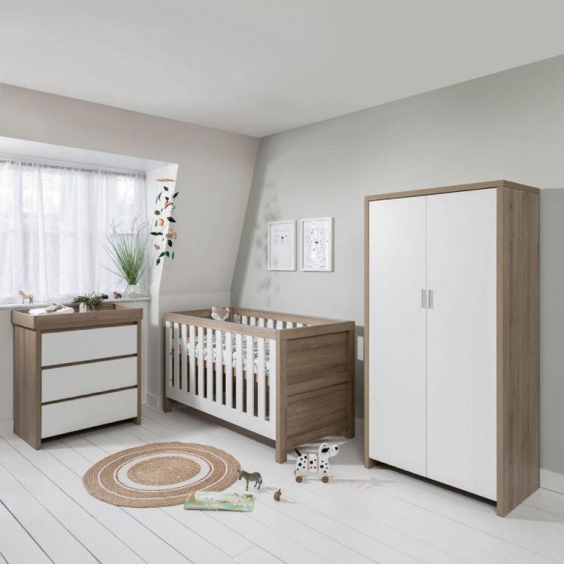 Tutti Bambini Modena 4 Piece Nursery Room Set - Oak/White