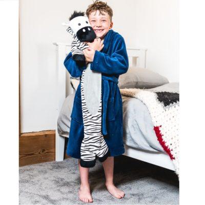 potwells long hot water bottle zebra