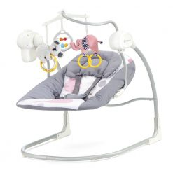 Kinderkraft baby rocker MINKY pink