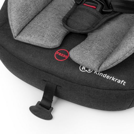 Kinderkraft Safety Fix ISOFIX Group 1,2,3 Car Seat (Black/Grey)