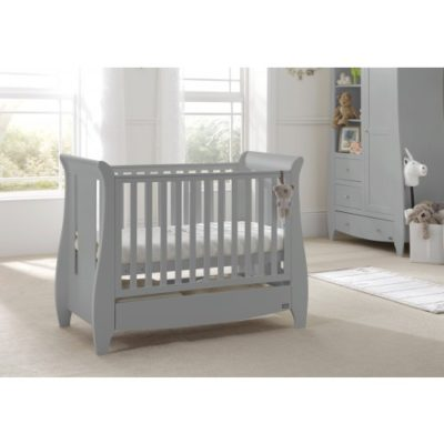 tutti bambini katie cot bed cool grey lifestyle