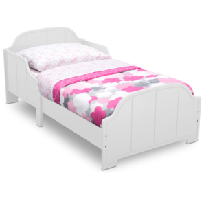 Delta-Children-white-Toddler-bed