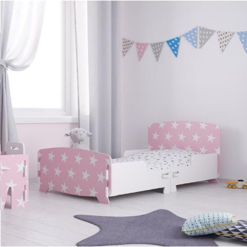 Kidsaw-Star-Junior-Toddler-Bed-Pink
